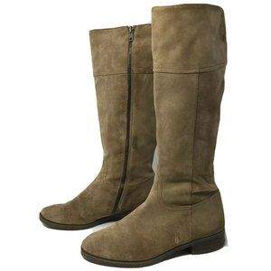 J. Crew Tall Riding Boots Women's 7.5 Suede Beige
